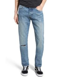 Levi's - Blue Levi's 501 Ct Slim Fit Jeans for Men - Lyst