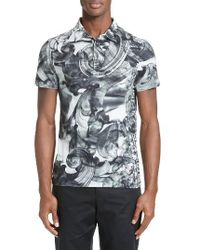 Versace White Tie Dye Polo for men