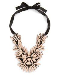 TOPSHOP | Black Crystal Statement Necklace | Lyst