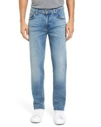 7 For All Mankind | Blue 7 For All Mankind Straight Luxe Performance Slim Straight Leg Jeans for Men | Lyst