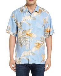 Tommy Bahama | Blue Guava Garden Silk Camp Shirt for Men | Lyst