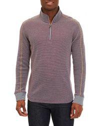 Robert Graham | Blue Poole Regular Fit Quarter Zip Pullover for Men | Lyst