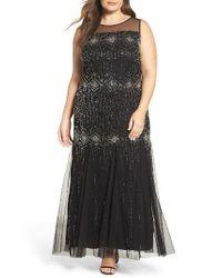 Pisarro Nights | Black Diamond Motif Embellished Long Dress | Lyst