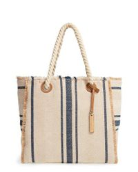 Vince Camuto | Blue Ulla Woven Tote | Lyst