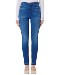 J Brand | Blue Maria High Waist Skinny Jeans | Lyst