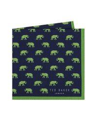 Ted Baker - Green Elephant Pocket Square for Men - Lyst