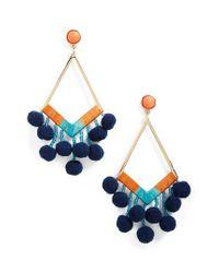BaubleBar | Orange Geo Drop Earrings | Lyst