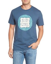 Rip Curl | Blue Blogger Graphic T-shirt for Men | Lyst
