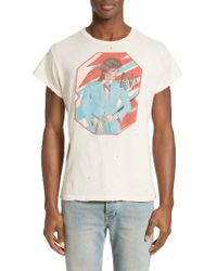595c83495 MadeWorn David Bowie Graphic T-shirt in White for Men - Lyst