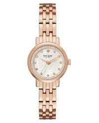 kate spade new york | Metallic New York Mini Monterey Glitz Bracelet Watch | Lyst