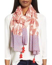 Tory Burch | Multicolor Palmetto Wool Scarf | Lyst