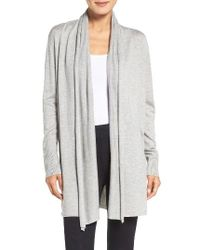 Lauren by Ralph Lauren | Gray Wrap Cardigan | Lyst