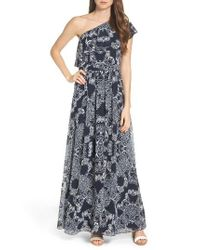 Vince Camuto | Blue One-shoulder Maxi Dress | Lyst