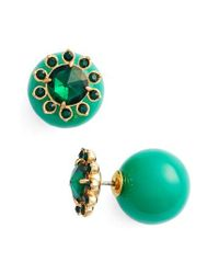 kate spade new york - Green Second Nature Front/back Earrings - Lyst