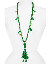 kate spade new york | Green Pretty Poms Tassel Necklace | Lyst
