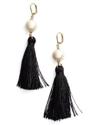 Kate Spade - Black Grand Bazaar Drop Earrings - Lyst