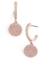 kate spade new york   Multicolor Shine On Pave Drop Earrings   Lyst