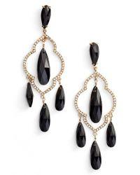 Kate Spade | Black Lantern Gems Chandelier Earrings | Lyst