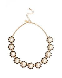 kate spade new york | Black Taking Shapes Collar Necklace | Lyst