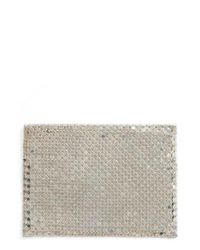 Whiting & Davis | Faux Leather & Mesh Card Case - Metallic | Lyst