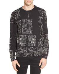 ELEVEN PARIS | Black Writing Graphic Sweatshirt for Men | Lyst