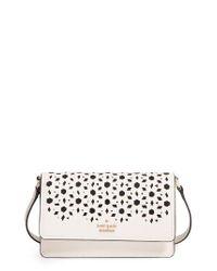 kate spade new york | Black Cameron Street - Arielle Perforated Leather Crossbody Bag | Lyst