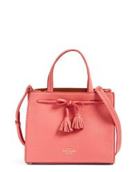 Kate Spade | Red Hayes Street Isobel Leather Satchel | Lyst