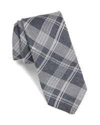 Ted Baker | Gray Plaid Silk Tie for Men | Lyst
