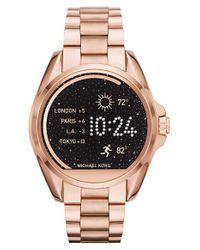 MICHAEL Michael Kors | Metallic Bradshaw Access Bracelet Smart Watch | Lyst