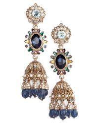 Marchesa | Metallic Regal Affair Drama Drop Earrings | Lyst