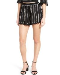 Band Of Gypsies | Black Stripe Shorts | Lyst