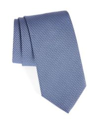 David Donahue | Purple Grid Silk & Cotton Tie for Men | Lyst
