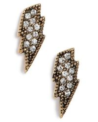 Marc By Marc Jacobs | Metallic Marc Jacobs Mj Coin Lightning Stud Earrings | Lyst