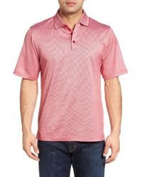 Bugatchi | Red Mercerized Cotton Polo for Men | Lyst