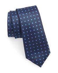Calibrate | Blue Descrete Geometric Silk Tie for Men | Lyst
