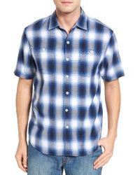 Tommy Bahama | Blue Plaid For You Standard Fit Camp Shirt for Men | Lyst