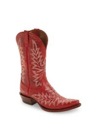 Ariat | Red Brooklyn Western Boot | Lyst