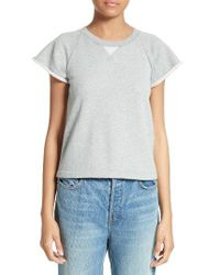 T By Alexander Wang | Gray French Terry Top | Lyst