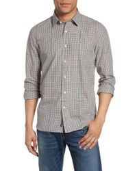 Victorinox | Gray Victorinox Swiss Army Graph Plaid Sport Shirt for Men | Lyst