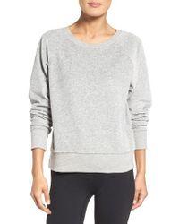 Zella | Gray Velour Pullover | Lyst