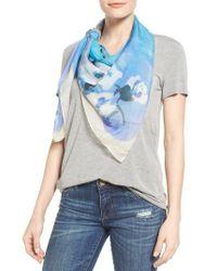 Vince Camuto | Blue Sakura Blossom Silk Scarf | Lyst