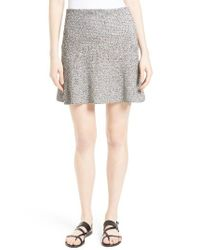 Theory - Gray Gida Km Prosecco Skirt - Lyst