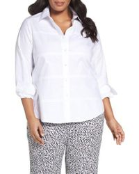 Foxcroft - White No-iron Cotton Shirt - Lyst