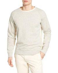 Billy Reid | Gray Dawson Raglan Sweatshirt for Men | Lyst
