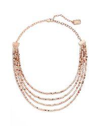 Karine Sultan | Metallic Ava Collar Necklace | Lyst