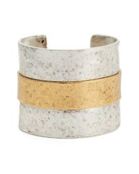 Karine Sultan | Metallic Carolina Textured Cuff | Lyst