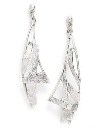 Karine Sultan | Metallic Sail Drop Earrings | Lyst