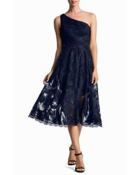 Dress the Population - Blue Rita One-shoulder Dress - Lyst