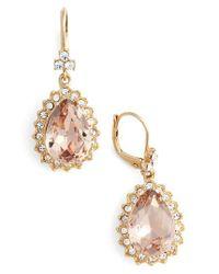 Marchesa | Metallic Sheer Bliss Pear Drop Earrings | Lyst
