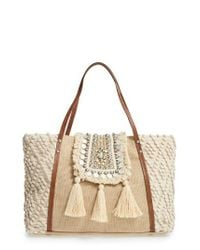 Steve Madden | Natural Jali Coin Tote | Lyst